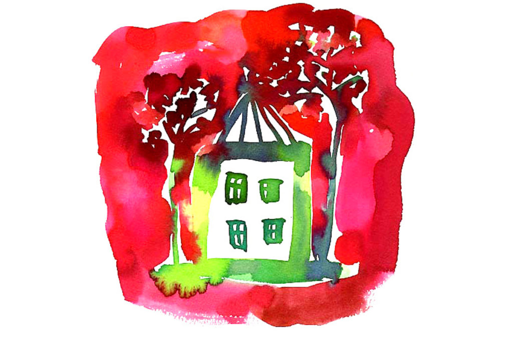 赤い家/カラーインク