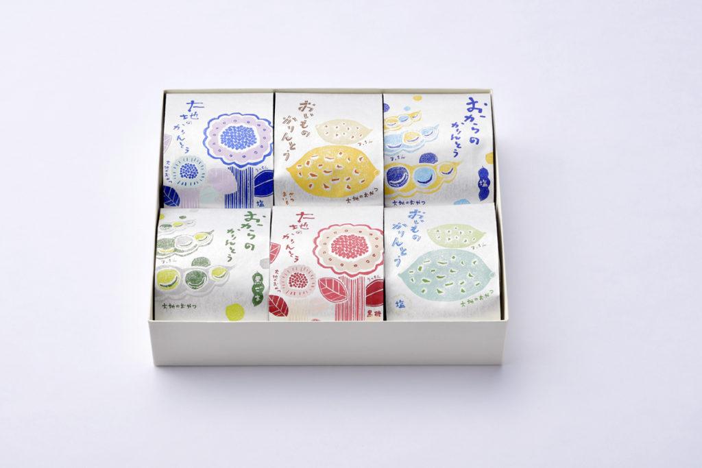 「大地のおやつ」パッケージデザイン&イラスト/山本佐太郎商店